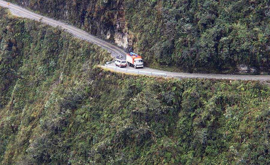 Kuzey Yungas Yolu, Bolivya