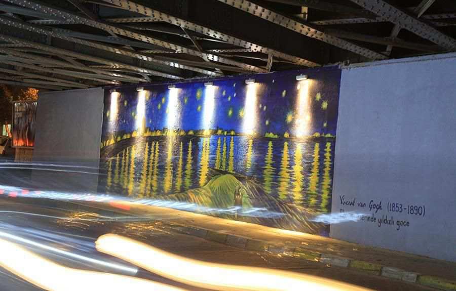 Aydın Sokaklarında Usta Sanatçı Van Gogh İmzası