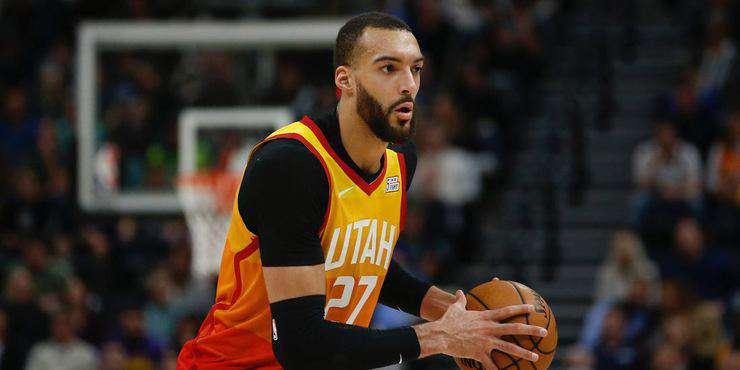 NBA'DE UTAH JAZZ'IN OYUNCUSU RUDY GOBERT