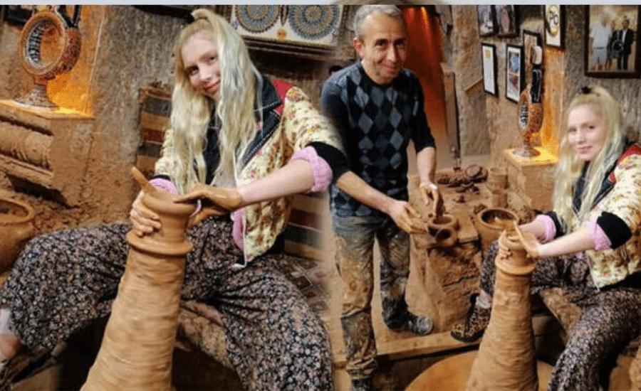 Aleyna Tilki  Çömlek Yaptı